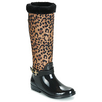 Zapatos Mujer Botas de agua Guess CICELY Negro / Leopardo