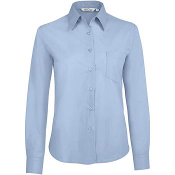 textil Mujer Camisas Sols EXECUTIVE POPELIN WORK Azul