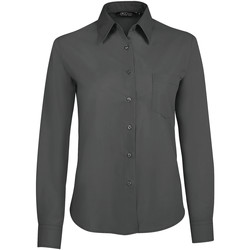 textil Mujer camisas Sols EXECUTIVE POPELIN WORK Gris