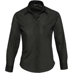 textil Mujer camisas Sols EXECUTIVE POPELIN WORK Negro