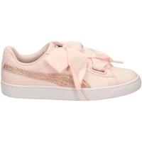 Zapatos Mujer Zapatillas bajas Puma BASKET HEART CANVAS pergo-rosa