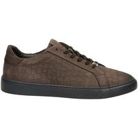 Zapatos Hombre Zapatillas bajas Café Noir GINNICA NABUK STAMPA marro-marrone