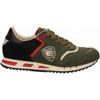 Zapatos Hombre Running / trail Blauer MEMPHIS01 - MAN SUEDE/MESH RUNNING mil-military-green