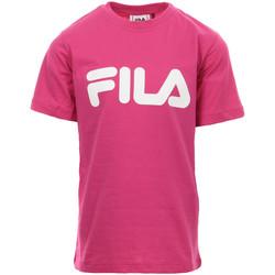 textil Niña Camisetas manga corta Fila Kids Classic Logo Tee Rosa