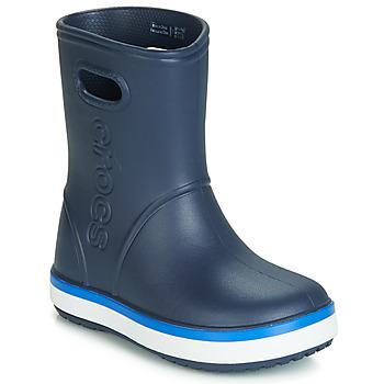 Zapatos Niños Botas de agua Crocs CROCBAND RAIN BOOT K Marino