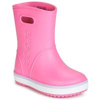 Zapatos Niña Botas de agua Crocs CROCBAND RAIN BOOT K Rosa