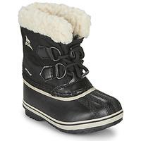 Zapatos Niños Botas de nieve Sorel CHILDRENS YOOT PAC NYLON Negro