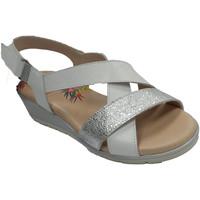 Zapatos Mujer Sandalias Pepe Menargues Sandalia mujer de tiras cruzadas blanco