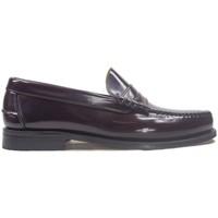 Zapatos Hombre Mocasín La Valenciana Zapatos  3266 Burdeos Rojo