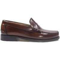 Zapatos Hombre Mocasín La Valenciana Zapatos  3266 Cuero Marrón
