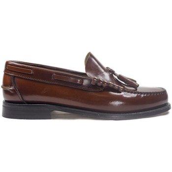 Zapatos Hombre Mocasín La Valenciana Zapatos  3270 Cuero Marrón