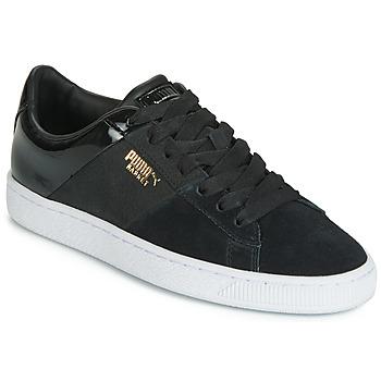 Zapatos Mujer Zapatillas bajas Puma BASKET REMIX Negro / Dorado