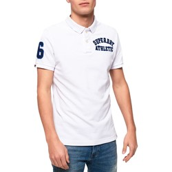 textil Hombre polos manga corta Superdry CLASSIC SUPERSTATE PIQUE POLO Blanco