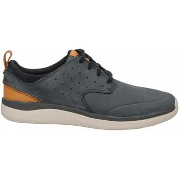 Zapatos Hombre Derbie Clarks GARRATT LACE NUBUCK navy