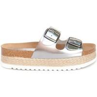 Zapatos Mujer Sandalias Colour Feet TURQUETA plata