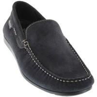 Zapatos Hombre Mocasín Mephisto ALGORAS Ante azul marino