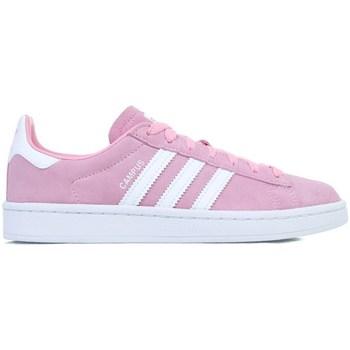 Zapatos Niña Zapatillas bajas adidas Originals Campus J Blanco,Rosa