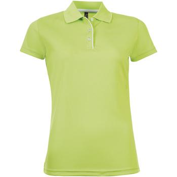 textil Mujer polos manga corta Sols PERFORMER WOMEN Verde