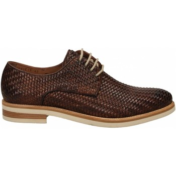 Zapatos Hombre Derbie Brecos VITELLO INTRECCIATO brandy