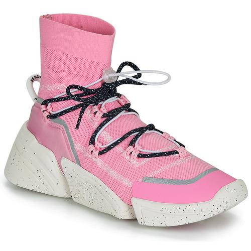 Zapatos Mujer Zapatillas altas Kenzo K SOCK SLIP ON Rosa
