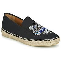 Zapatos Hombre Alpargatas Kenzo ESPADRILLE ELASTIQUE TIGER HEAD Negro