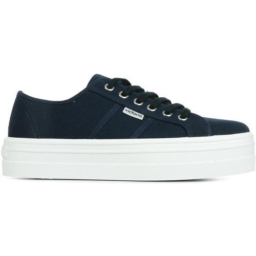 Zapatos Mujer Zapatillas bajas Victoria Basket Lona Plataforma azul