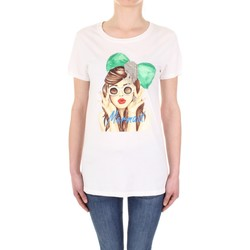 textil Mujer Camisetas manga corta Vicolo RU0081 crema