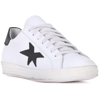 Zapatos Hombre Zapatillas bajas At Go GO VITELLO BIANCO Bianco