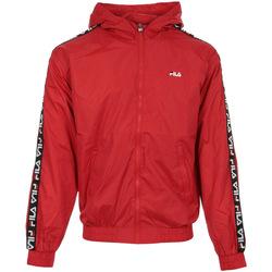 textil Hombre Chaquetas Fila Tacey Tape Wind Jacket Rojo