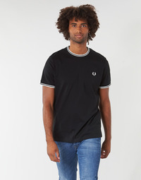 textil Hombre Camisetas manga corta Fred Perry TWIN TIPPED T-SHIRT Negro