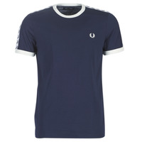 textil Hombre Camisetas manga corta Fred Perry TAPED RINGER T-SHIRT Marino