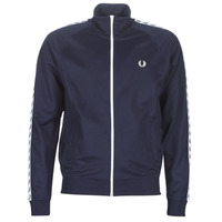 textil Hombre chaquetas de deporte Fred Perry TAPED TRACK JACKET Marino