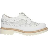 Zapatos Niña Derbie Nero Giardini P830070F Blanco y plata