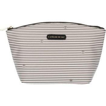 Bolsos Mujer Neceser Pash Bag 8385Gisele Hielo con rayas negras
