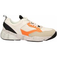 Zapatos Hombre Zapatillas bajas Cromier TECNOnylon white-orange