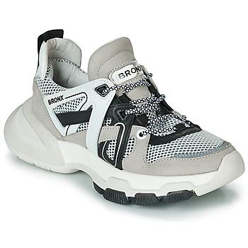 Zapatos Mujer Zapatillas bajas Bronx SEVENTY STREET Gris / Blanco / Negro