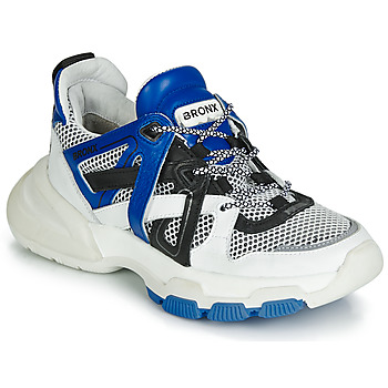 Zapatos Mujer Zapatillas bajas Bronx SEVENTY STREET Blanco / Negro / Azul