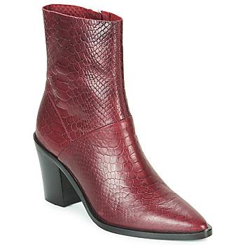 Zapatos Mujer Botines Bronx NEW AMERICANA LOW Burdeo