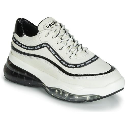 Zapatos Mujer Zapatillas bajas Bronx BUBBLY Blanco / Negro