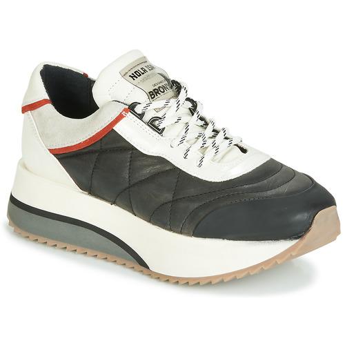 Zapatos Mujer Zapatillas bajas Bronx NOLA ISA Negro / Gris