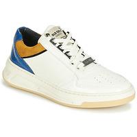 Zapatos Mujer Zapatillas bajas Bronx OLD COSMO Blanco / Ocre / Azul