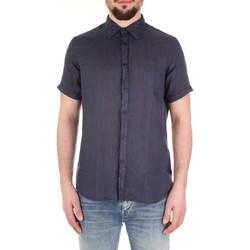 textil Hombre Camisas manga corta Fred Mello FM19S27CU azul
