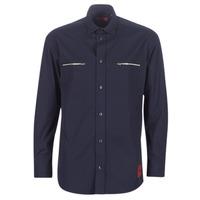 textil Hombre camisas manga larga HUGO ETRUS Marino
