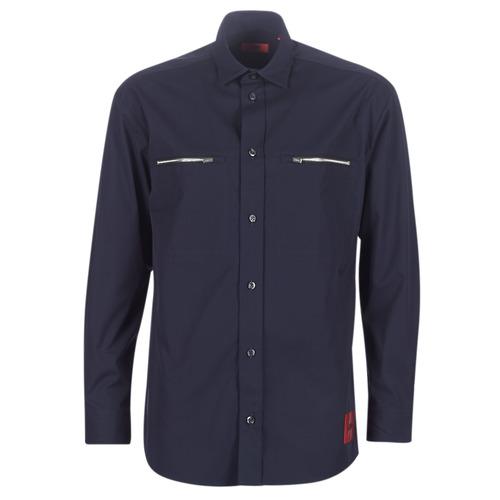 HUGO ETRUS Marino - Envío gratis | ! - textil camisas manga larga Hombre