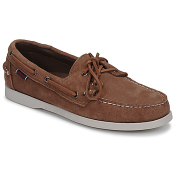 Zapatos Hombre Zapatos náuticos Sebago DOCKSIDES PORTLAND SUEDE Camel