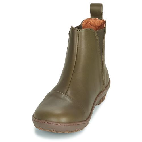 Baja Zapatos Art Mujer Botas Antibes Kaki Caña De YWE2IeDH9