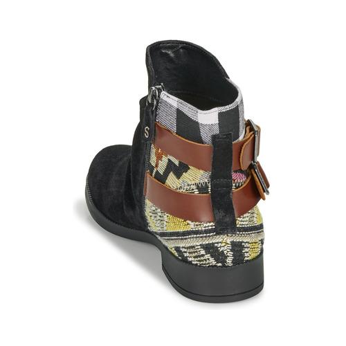 Botas Caña Ottawa Negro Zapatos Baja Patch De Mujer Desigual PuZkXOi