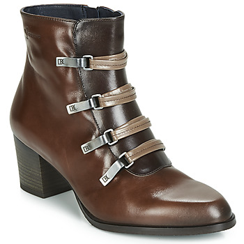 Zapatos Mujer Botines Dorking ZUMA Camel