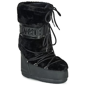 Zapatos Mujer Botas de nieve Moon Boot MOON BOOT CLASSIC FAUX FUR Negro