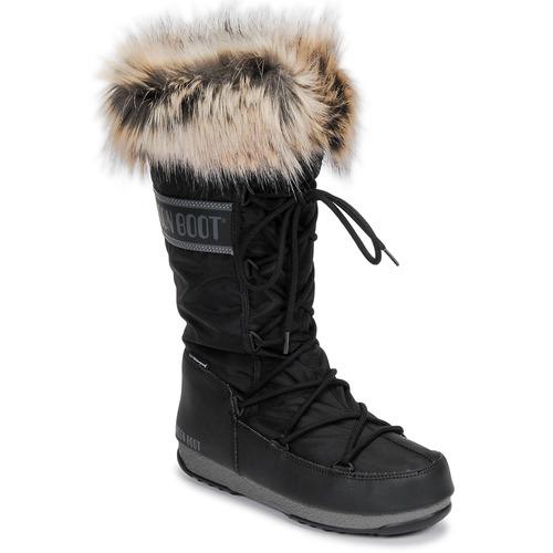 Zapatos Mujer Botas de nieve Moon Boot MOON BOOT MONACO WP 2 Negro